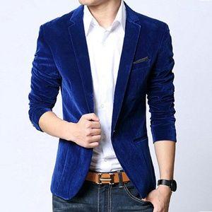 Men's Blazer Slim Fit Suit Velvet Jacket - US (S)